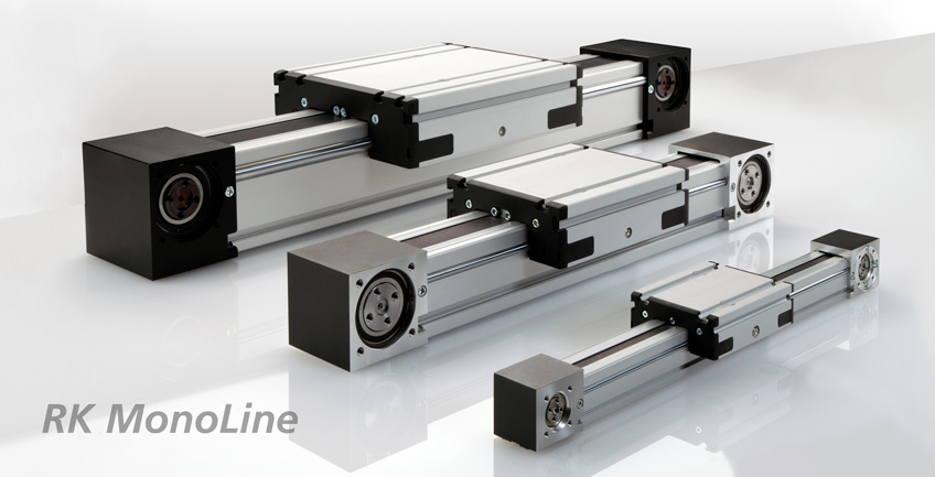 RK MonoLine roller guide in the sizes 40, 80 and 120