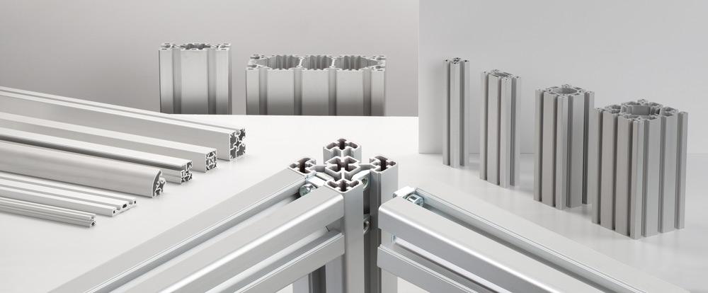 Aluminiumprofiler från RK Rose+Krieger– ansluter profiler utan behov av ytterligare maskinbearbetning
