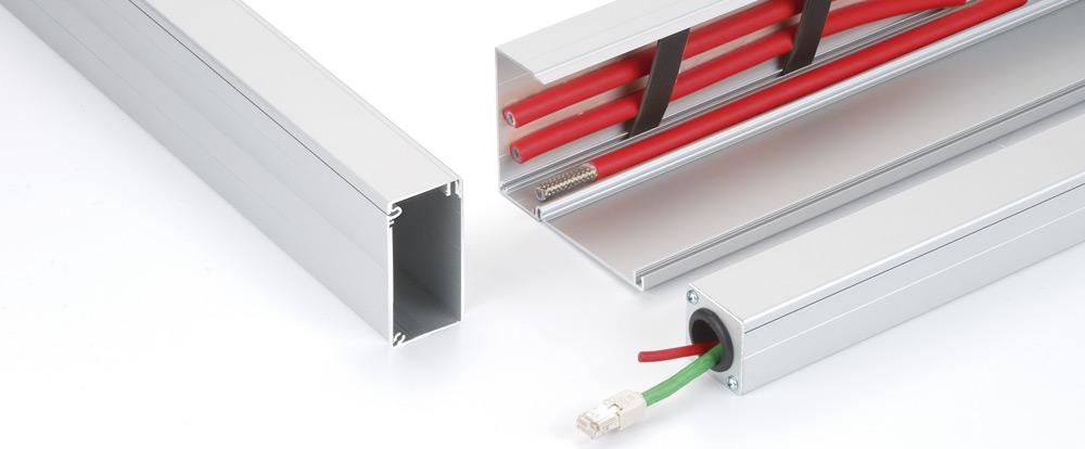 Aluminiumkabelkanalen från RK Rose+Krieger har många användbara funktioner som garanterar enkel hantering