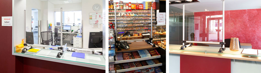 Droplet guard for point of sale and reception areas