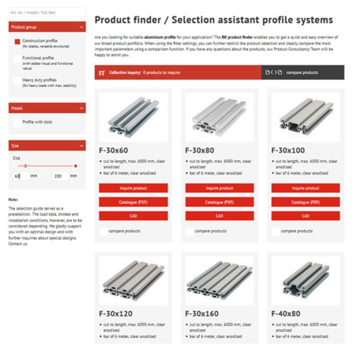 Produktsökning profilteknik (aluminiumprofiler)