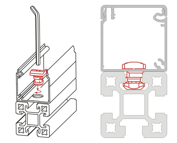 Enkel montering med aluminiumprofiler